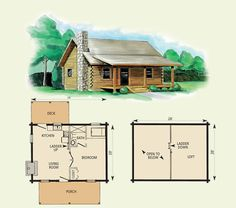 small cabin with loft floorplans   Photos of the Small Cabin Floor     small cabin with loft floorplans   Photos of the Small Cabin Floor Plans  With Loft   tiny house   Pinterest   Cabin floor plans  Cabin and Lofts