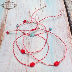 MARCH Bracelet , Spring MARTIS Greek Bracelet, Martisor Bracelet, Martaki, Ladybug Spring Bracelet, Friendship Bracelet A delicate red and white traditional Greek bracelet with a lovely ladybug ....!!!! Martis or Martia (Η Μαρτιά) is a custom we come across in the Balkans and