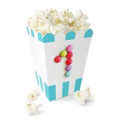Ett År / 1 års jubileum - Blå Nonstop Popcornbeger Popcorn, Tray, Food, Caramel, Creative, Trays, Meals