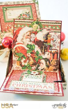 Boxed Pop Up Card, St Nicholas, Tutorial by Sandy Trefger, Product by Graphic 45, Photo 0007
