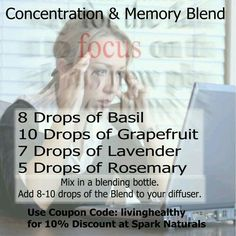 Focusing & Concentration Essential Oil Diffuser Blend
