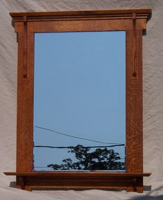 Arts and Crafts Mission style Mirror with shelf.