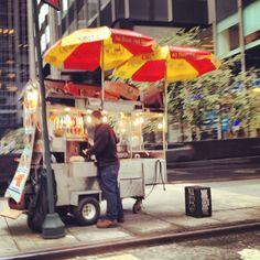 NY Street Vendor Street Vendor, I Love Nyc, Street Food, Comic Book, Broadway, Graduation, Bucket, Artists, York