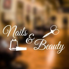 Nails and Beauty salon wall sticker walk in appointments decal art hair ns4 in Home, Furniture & DIY, Home Decor, Wall Decals & Stickers | eBay