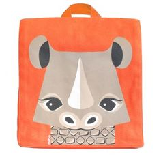 Sac à dos enfant maternelle en coton bio rhinocéros / Kids backpack for school with rhino made out of organic cotton www.coqenpate.com #rentreescolaire #backtoschool