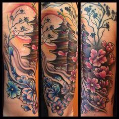 Finito oggi il bellissimo tempio.. Tattoo Artist: Wonderfull Valentina  Tatuaggio Giapponese http://www.subliminaltattoo.it  #tempio   #jappotattoo   #valentinasala    #subliminaltattoofamily   #templetattoo   #tattooartist   #tatuaggio