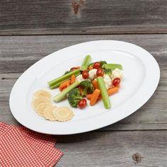 Ksp Aurora Porcelain Oval Platter 51 Cm X 36 Cm White | Kitchen Stuff Plus