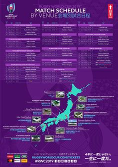 Rwc 2019 Match Schedule Rugby World Argentina Rugby, World Cup Fixtures, World Cup Schedule, Six Nations Rugby, World Cup Live, South Africa Rugby, France Rugby, Ireland Rugby, World Cup Groups