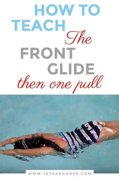 The purpose of a front glide then one pull is to illustrate just how far you can go while exerting the least amount of energy. It takes very little energy to achieve a vast distance, and this is all accomplished without even kicking your legs. Swimming Workouts For Beginners, Swimming Lessons For Kids, Swimming Tips, Baby Swimming, Swim Lessons, Swimming Exercises, Teach Kids To Swim, Learn To Swim, Cycling Workout
