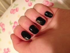 Black and gold nails
