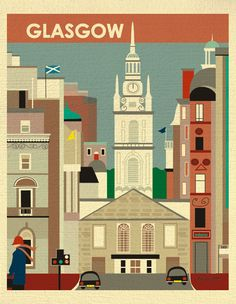 Glasgow, Scotland Scene - St. George's Trons Church in the City Centre - For Home, Office, and Nursery - style E8-O-GLA by loosepetals on Etsy https://www.etsy.com/listing/123769725/glasgow-scotland-scene-st-georges-trons