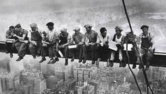Empire State Building construction workers in 1930.
