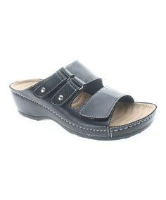 Look what I found on #zulily! Black Flavia Sandal by Patrizia by Spring Step #zulilyfinds