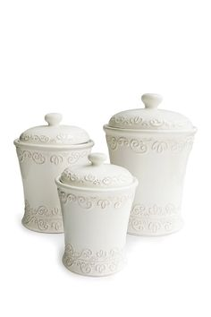 Jay Import Bianca Scroll Canister - Set of 3