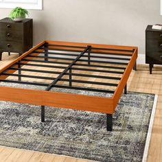 Alwyn Home Billiot Wood Platform Bed Frame Size: King, Color: Vintage Cherry Platform Bed Designs, Best Platform Beds, Solid Wood Platform Bed, Platform Bed Frame, Bed Frame Sizes, Canopy Bed Frame, Steel Bed Frame, Bed Frame Design, Bedding Inspiration