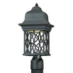 1 Light Post Mount by Triarch. $160.20. Triarch 78145-10 Blacksmith Bronze Outdoor Post Light