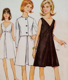 Dress and Jacket Pattern Inverted Front Pleat by WildPlumTree, $7.00