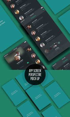 Free App Screens Perspective MockUp PSD #freepsdfiles #freepsdmockups #mockuptemplates