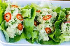 Avocado Chicken Salad Lettuce Wraps for a Quick & Simple Lunch!