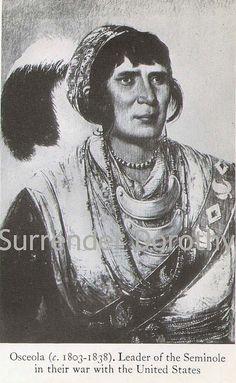 Osceola Native People Photogravure by SurrendrDorothy, via Flickr