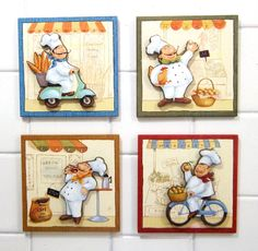 Roast Cafe, Chef Images, Chef Pictures, Stencil, Dishwasher Cover, Dining Room Wall Art, Pintura Country, Decoupage Vintage, Dark Roast