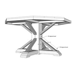 Ana white build a benchmark octagon table free and for Octagon coffee table plans