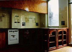 kitchen of scrap wood cedar and red cedar