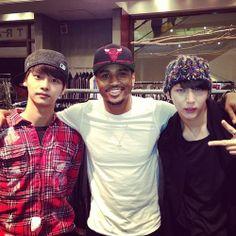 Trey Songz and VIXX (N and Leo) meet in LA on Leo's birthday