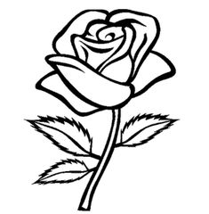 Flower Stem Template Black And Whiteblack White Clipart Of Flower AZ Coloring Pages Rose coloring pages Flower sketch images Rose clipart
