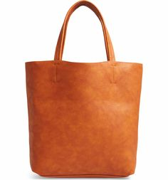 307e84bf9c5a Main Image - Sole Society Oversize Melyssa Faux Leather Tote