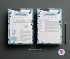 Plantilla CV / reanudar plantilla, plantilla de carta de presentación, plantilla…