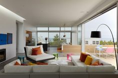 Colourful living room | Beach Walk House | SPG Architects