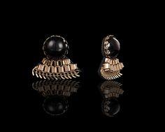 Intricate Gold Noir Earrings - $30 http://www.muwae.com/shop/intricate-gold-noir-earrings