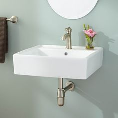 Chelsey Wall-Mount Bathroom Sink - laundry room