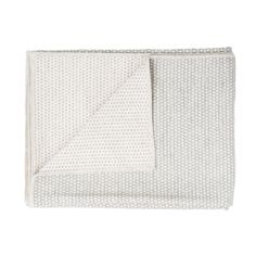 Merino Lambswool Throw – Made in England – Classic Clarendon Linen and Grey Throw - Tori Murphy Ltd