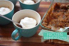 frozen cappuccino - 3 ingredients