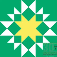 Aunt Mary's Sunshine Star Block - How to make a quilt block pattern and easy quilt block pattern.