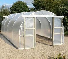 Another popular size in our range of polytunnels is the wide model, with high straight sides and an overall height of it provides a good air circulation and growing space. Veg Garden, Vegetable Garden Design, Garden Trellis, Garden Pool, Pvc Greenhouse Plans, Best Greenhouse, Greenhouse Gardening, Backyard Projects, Garden Projects