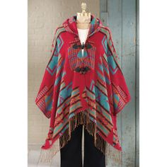 Riudoso Hooded Poncho - Western Wear, Equestrian Inspired Clothing, Jewelry, Home Décor, Gifts