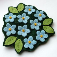 Image of Forget Me Nots Brooch