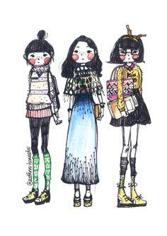 Cute Hippies by Kathrin Honesta