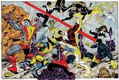 x-men v alpha flight, in james stewart's John Byrne tryouts Comic Art Gallery Room Comic Book Artists, Comic Artist, Comic Books Art, Marvel Heroes, Marvel Characters, Alpha Flight, Avengers Art, John Byrne, Marvel Comic Universe