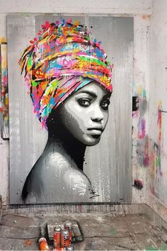 street art - Painting black and white draw artists ideas africaine artists Black Draw Ideas Painting White Arte Pop, African American Art, African Art, American Indians, Arte Inspo, Black Art Painting, Black And White Painting, White Art, Black White
