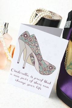 What a gorgeous card from Meezer Meezer Designs - Birthday Card - A New Pair of Shoes £2.00