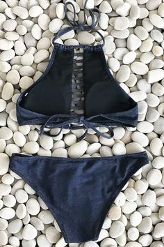 Cupshe Echo of You Denim Bikini Set