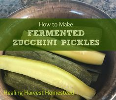 Fermented foods are SO good for you! Fermenting is also easy to do and is a wonderful traditional way to preserve your food. Here's how I made delicious homemade zucchini pickles! Schedule