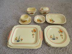 "15 Piece Lot Homer Laughlin Fiesta ""Conchita Mexicana"" Dinnerware Set"