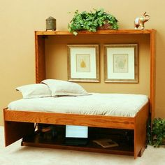 Wallbeds Full/Double Murphy Bed Finish: Natural