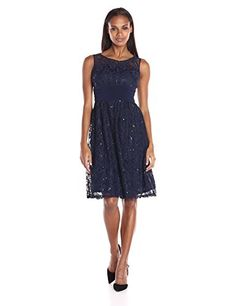Sangria Women's Sequined Lace Fit and Flare, Midnight, 4 ... http://www.amazon.com/dp/B01BGYCO9I/ref=cm_sw_r_pi_dp_SYuixb07RDGD9