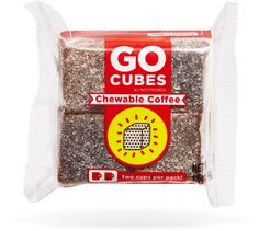 GO CUBES Chewable Coffee come in 3 flavors: mocha, latte, and pure drip, and each 4-pack is equivalent to 2 cups of coffee.